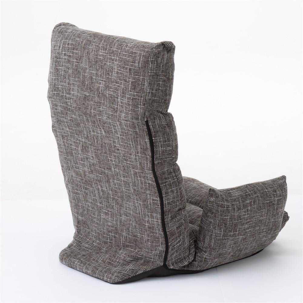 B27肘付き倒れにくい座椅子 ブラウン