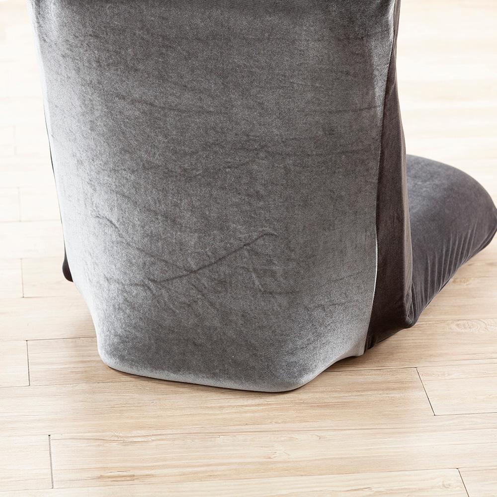 洗える倒れにくい座椅子専用カバー ベルベット グレー