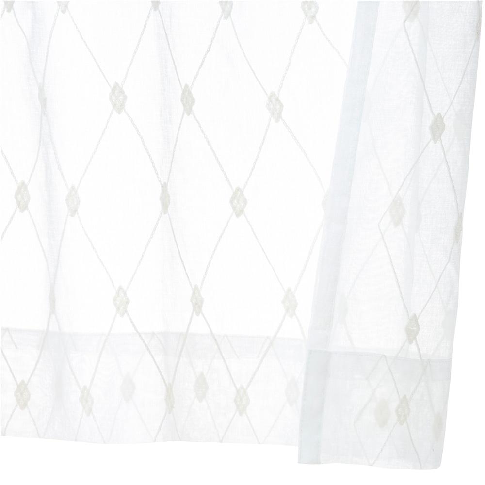 汚れがつきにくいレースカーテン クリーンアーガイル 100×175 2枚組