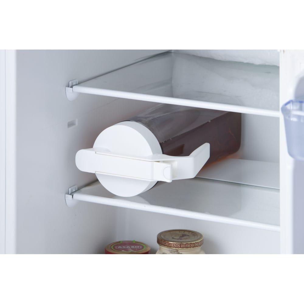 持ちやすいワンプッシュ冷水筒 2.1L ホワイト