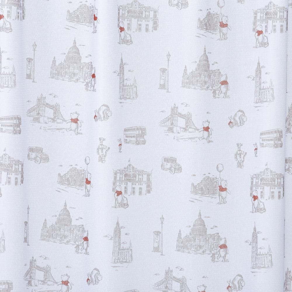 くまのプーさん/ロンドン 100×198cm 2枚組 レースカーテン【別送品】