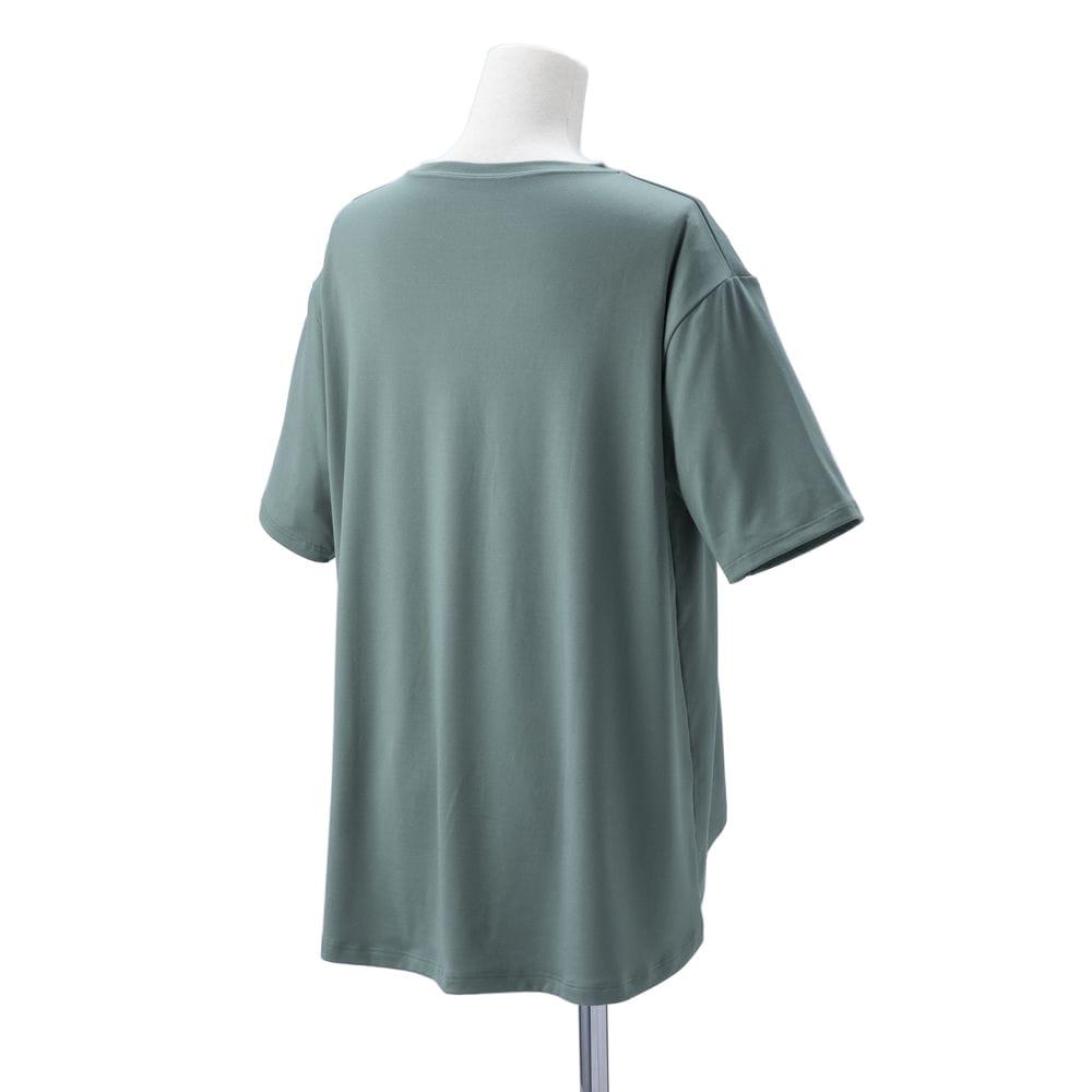 ストレッチ ヨガシャツ 半袖 GR S-M