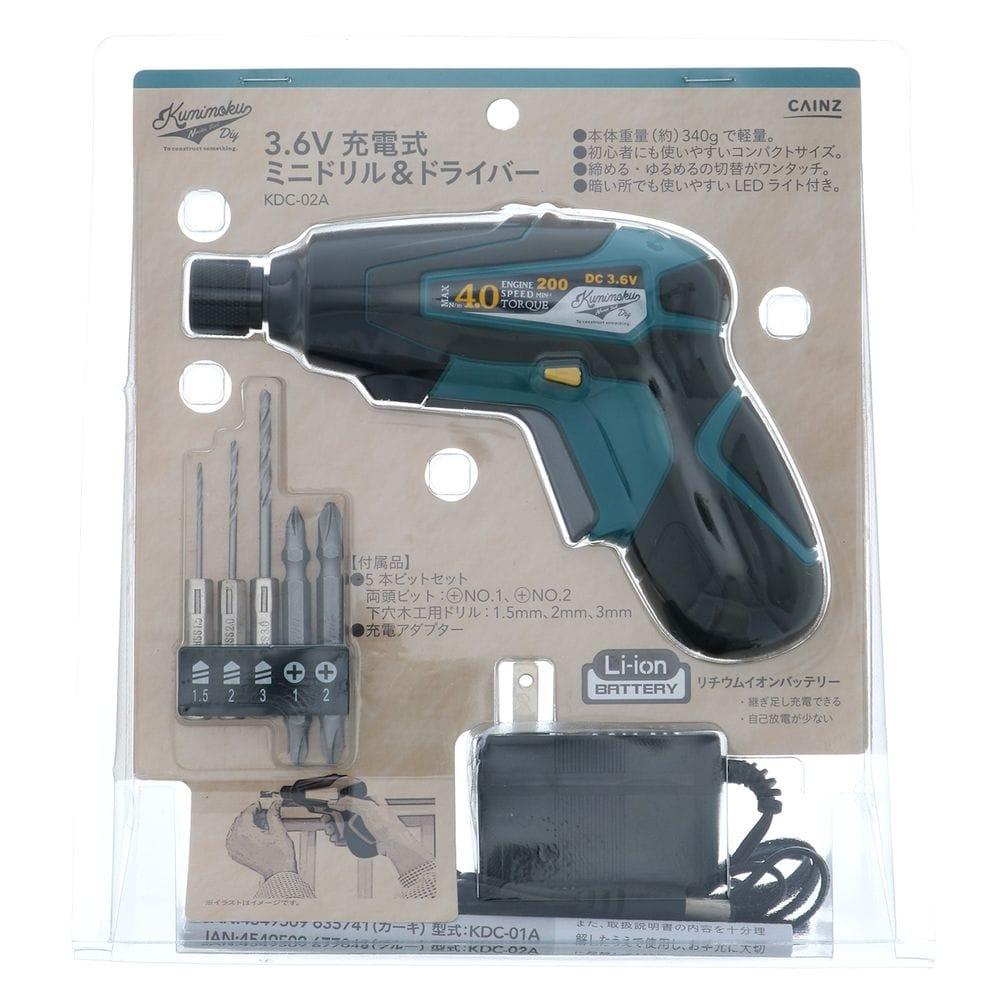 kumimoku 3.6Vミニドライバー KDC-02