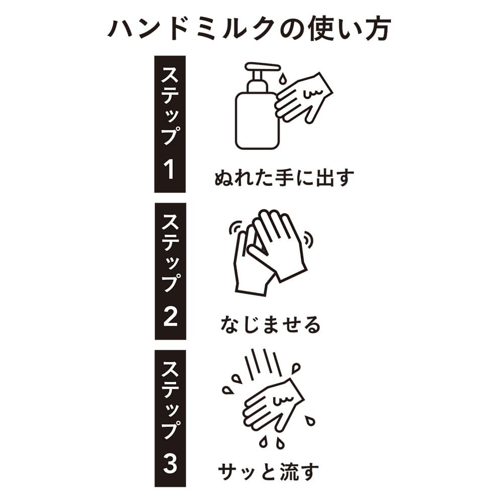 濡れた手でも使えるハンドミルク 400ml
