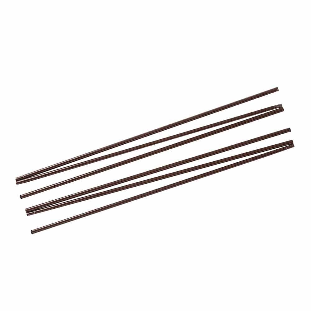 【2021春夏】日よけ スタンドシェードになる縦支柱パイプ ブラウン 1.6×300cm 2本入