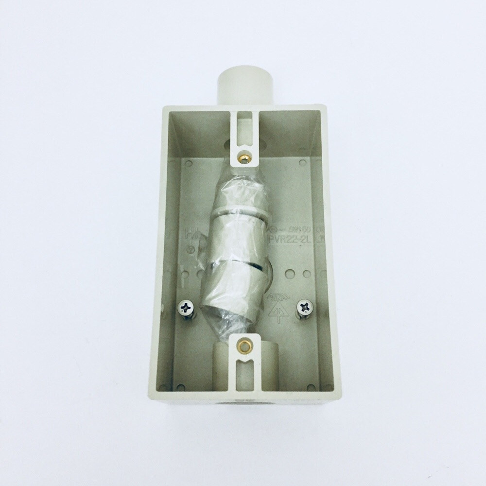 露出スイッチBOX防滴プレート用PVR22-2LJ