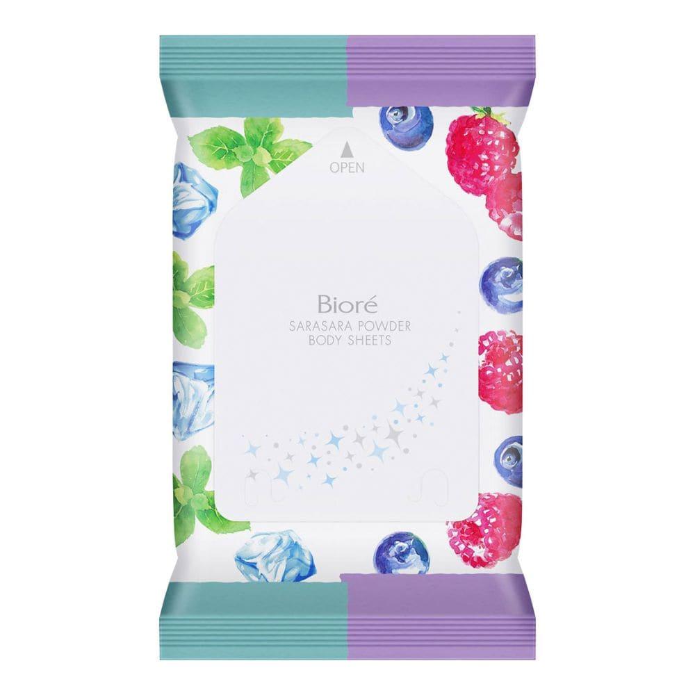 花王 ビオレ さらさらパウダーシート 香りマジック ひえひえミントto完熟ベリーの香り 携帯用 10枚