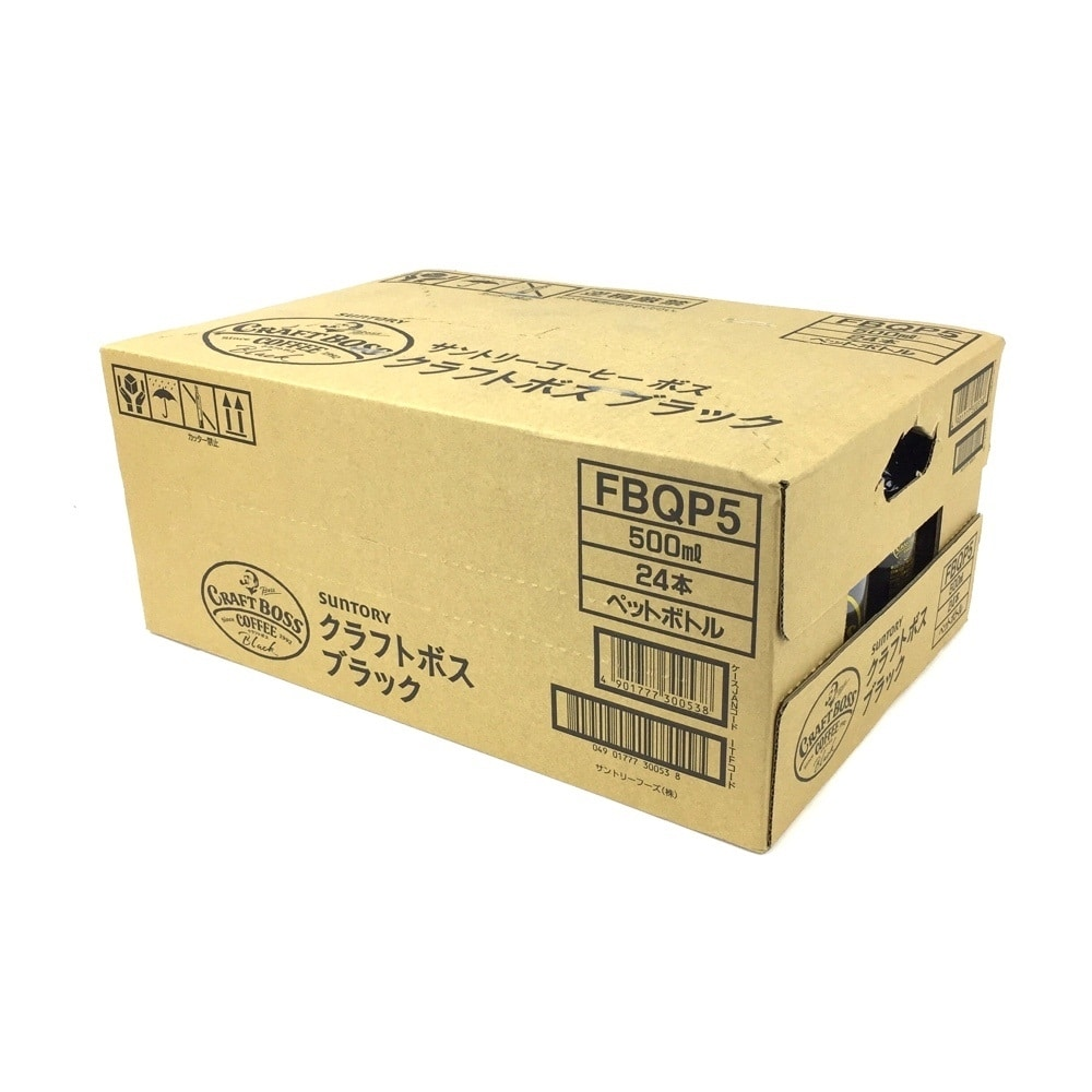 【ケース販売】サントリー クラフトボス ブラック 500ml×24本