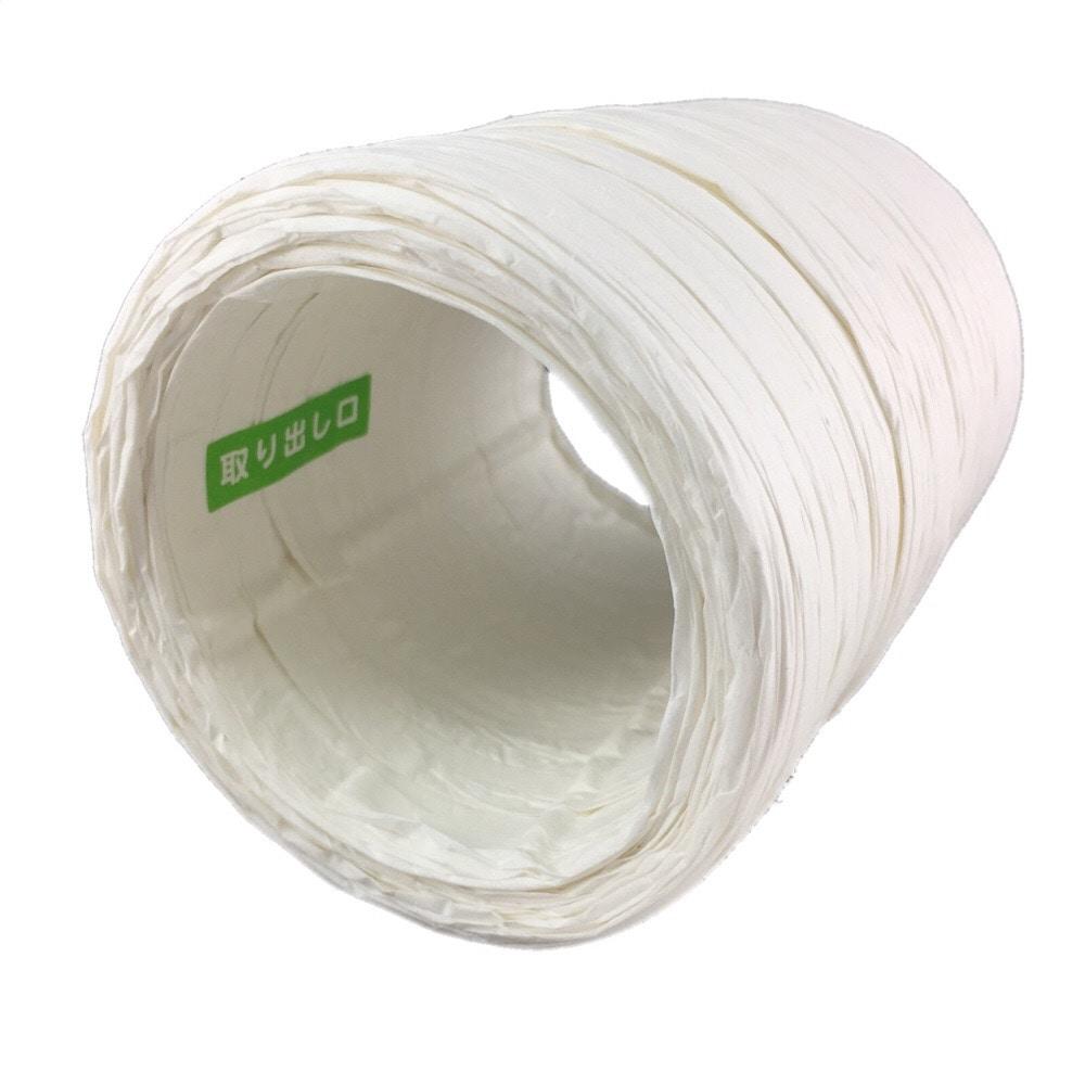紙平ひも 43m 白