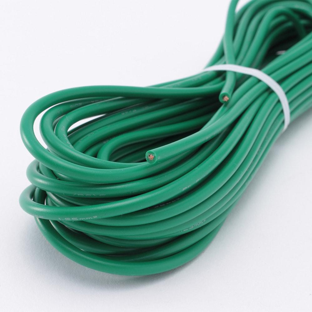 アース線(VSF1.25) 緑 10m