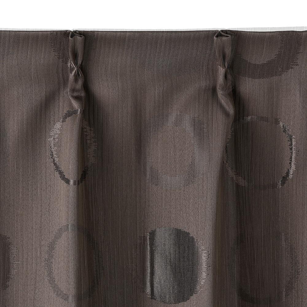 遮光カーテン ミルト ブラウン 100×178 2枚組