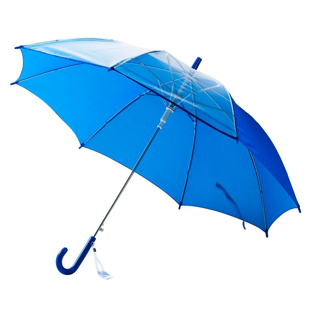子供傘 軽量視界安全学童傘 55cm ブルー
