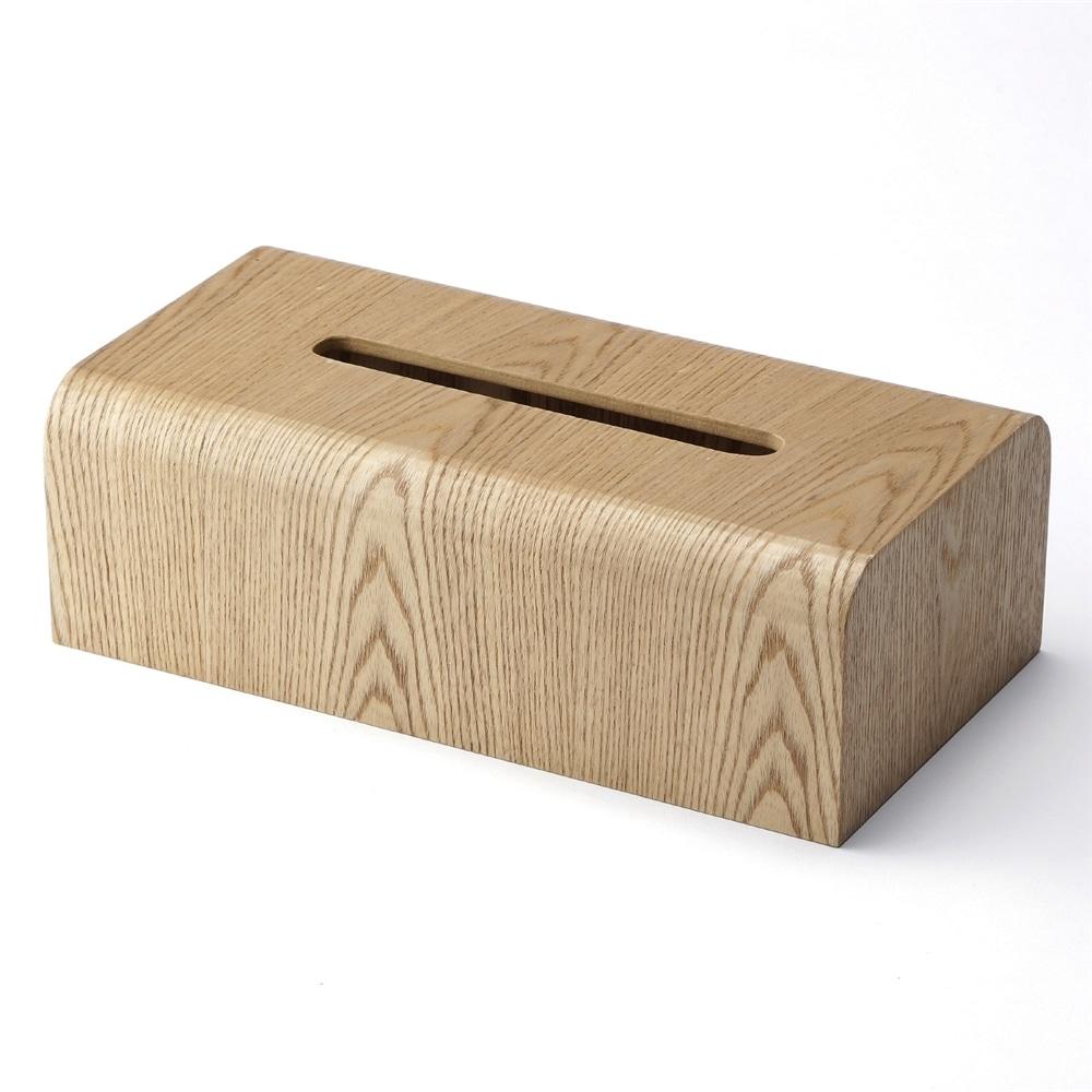 木製ティッシュケース ナチュラル