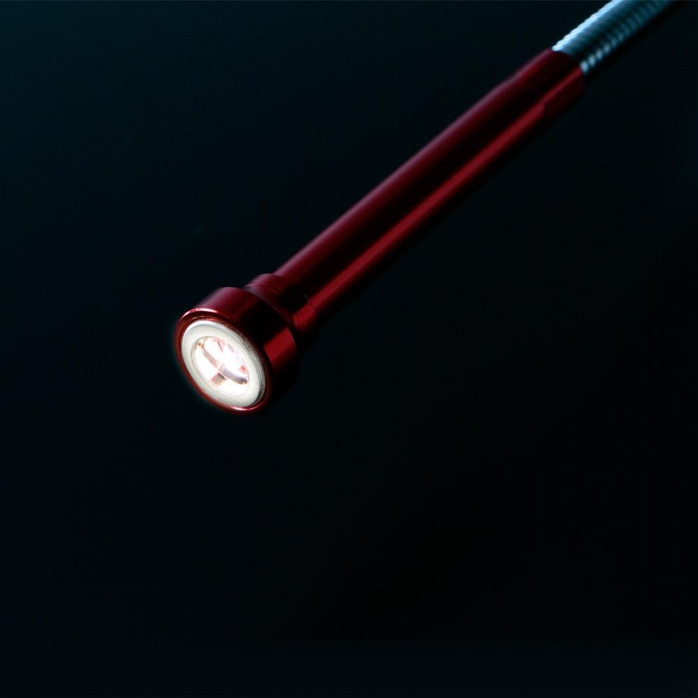 爪付き・LEDピックアップツールフレキ60cm レッド