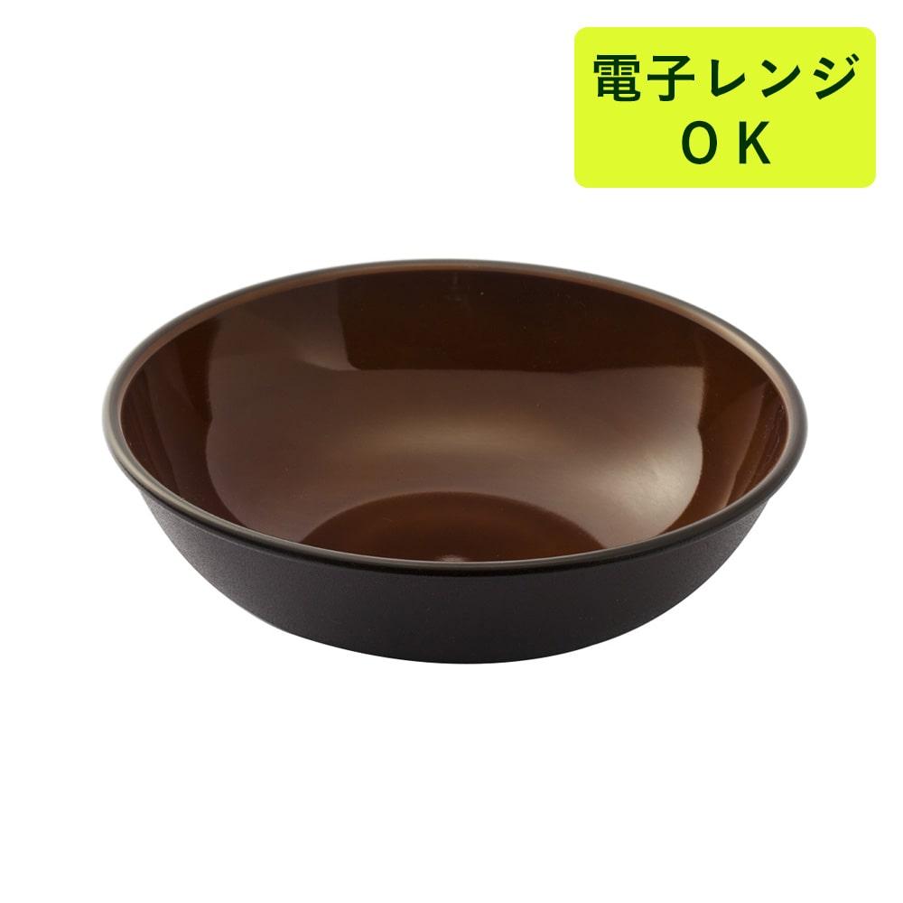 割れにくい軽量鉢 17cm 茶