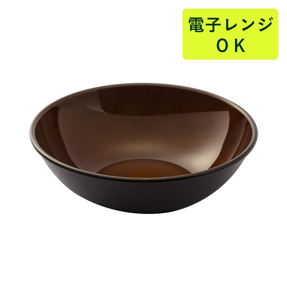 割れにくい軽量鉢 21cm 茶色
