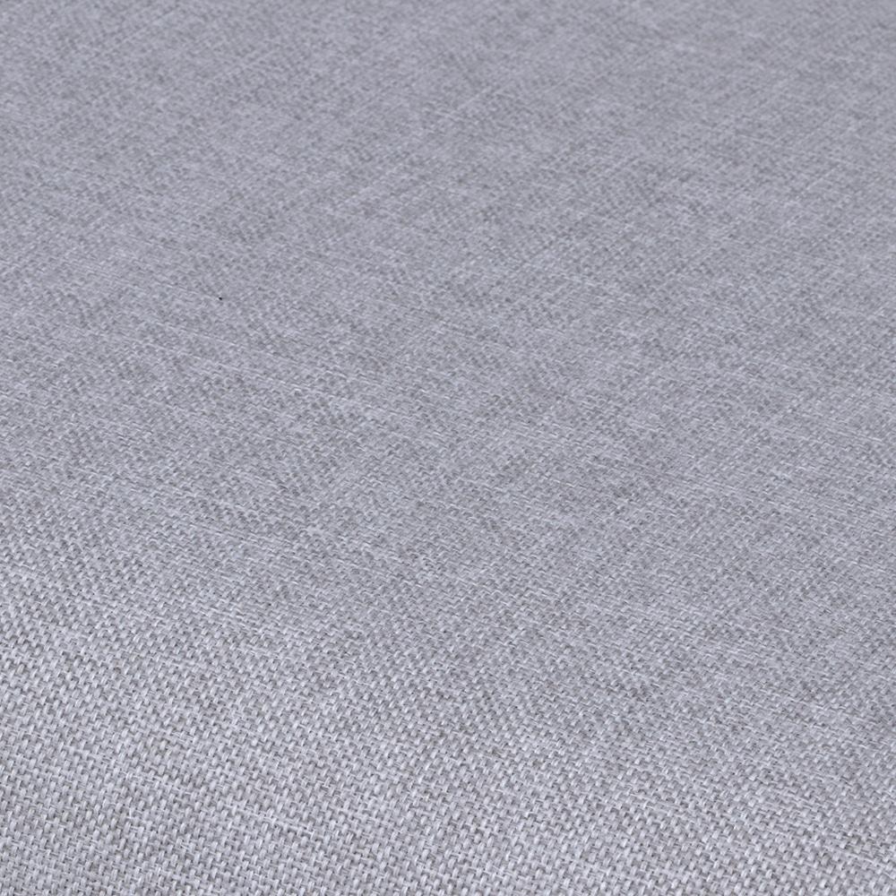 木肘ファブリックソファー ライトグレー【別送品】(ライトグレー): 家具