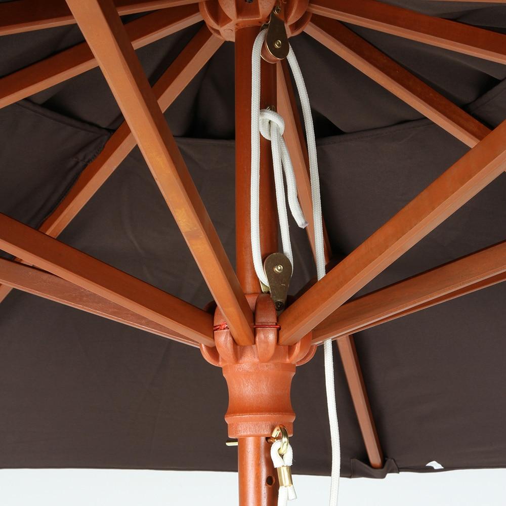 木製パラソル 210cm グリーン【別送品】