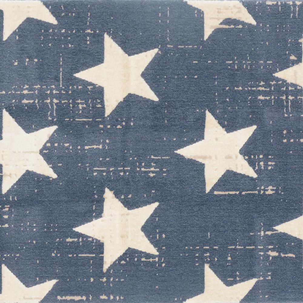 ウィルトンラグ CANVZSスター ブルー 140×200