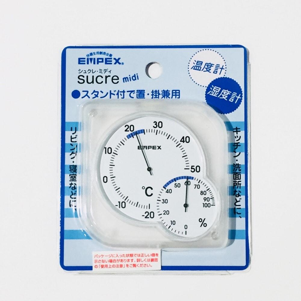 EP 温湿度計 シュクレミディ 白 TM-5601