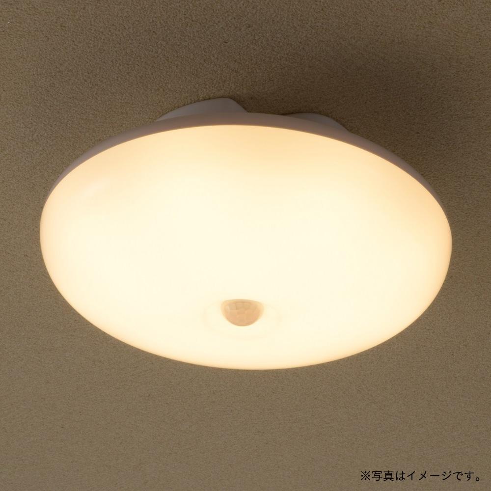 オーム電機 LEDミニシーリング 100型 電球色 センサー付き LE-Y14LK-WR