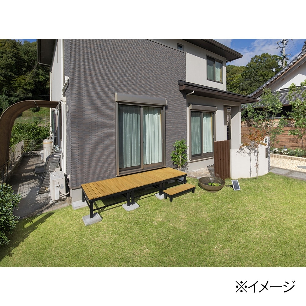 ホームEXアルミフレームデッキ0.75坪 オークル【別送品】