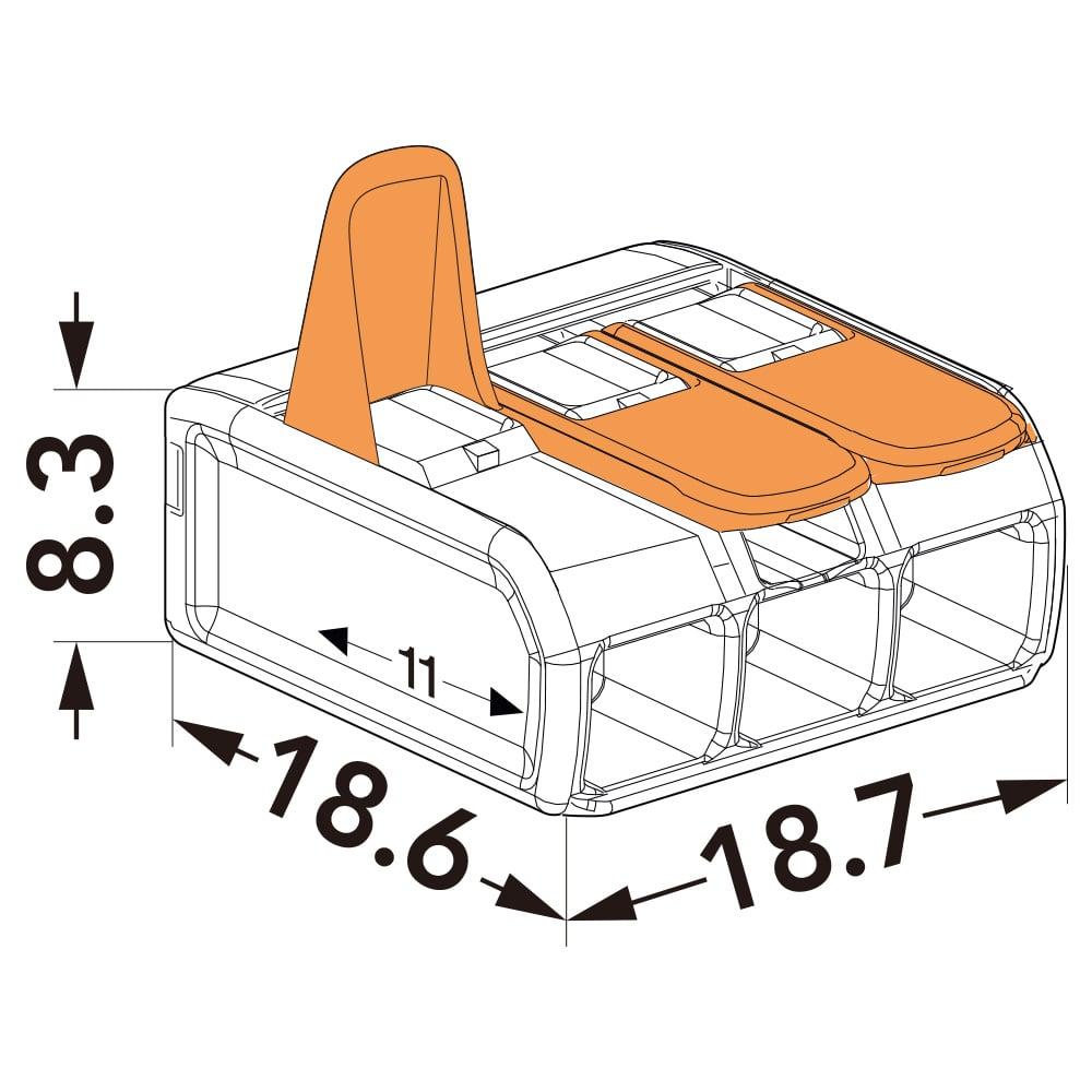WAGO ワゴ ワンタッチコネクター 3極用 WFR-3BP