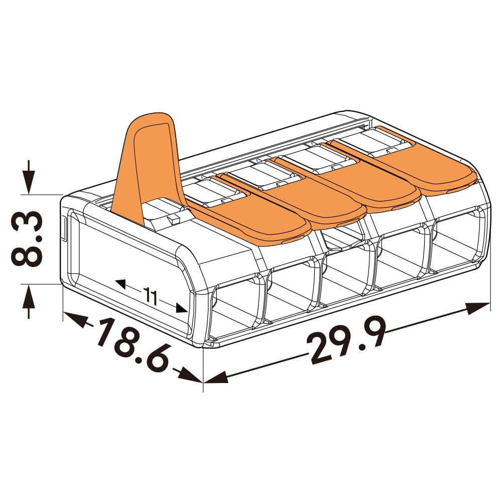 WAGO ワゴ ワンタッチコネクター 5極用 WFR-5BP