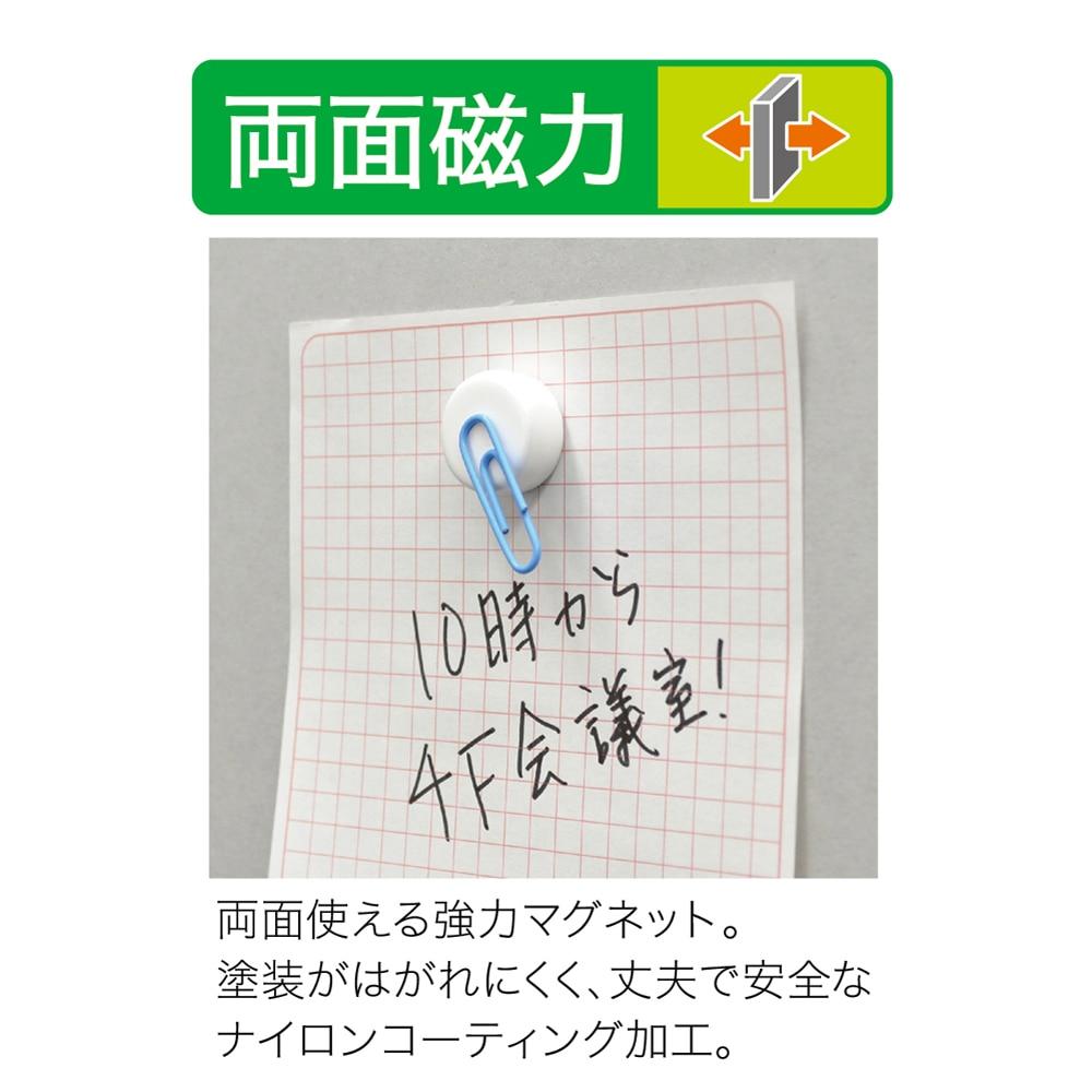 強力カラーマグネット18-3P-白