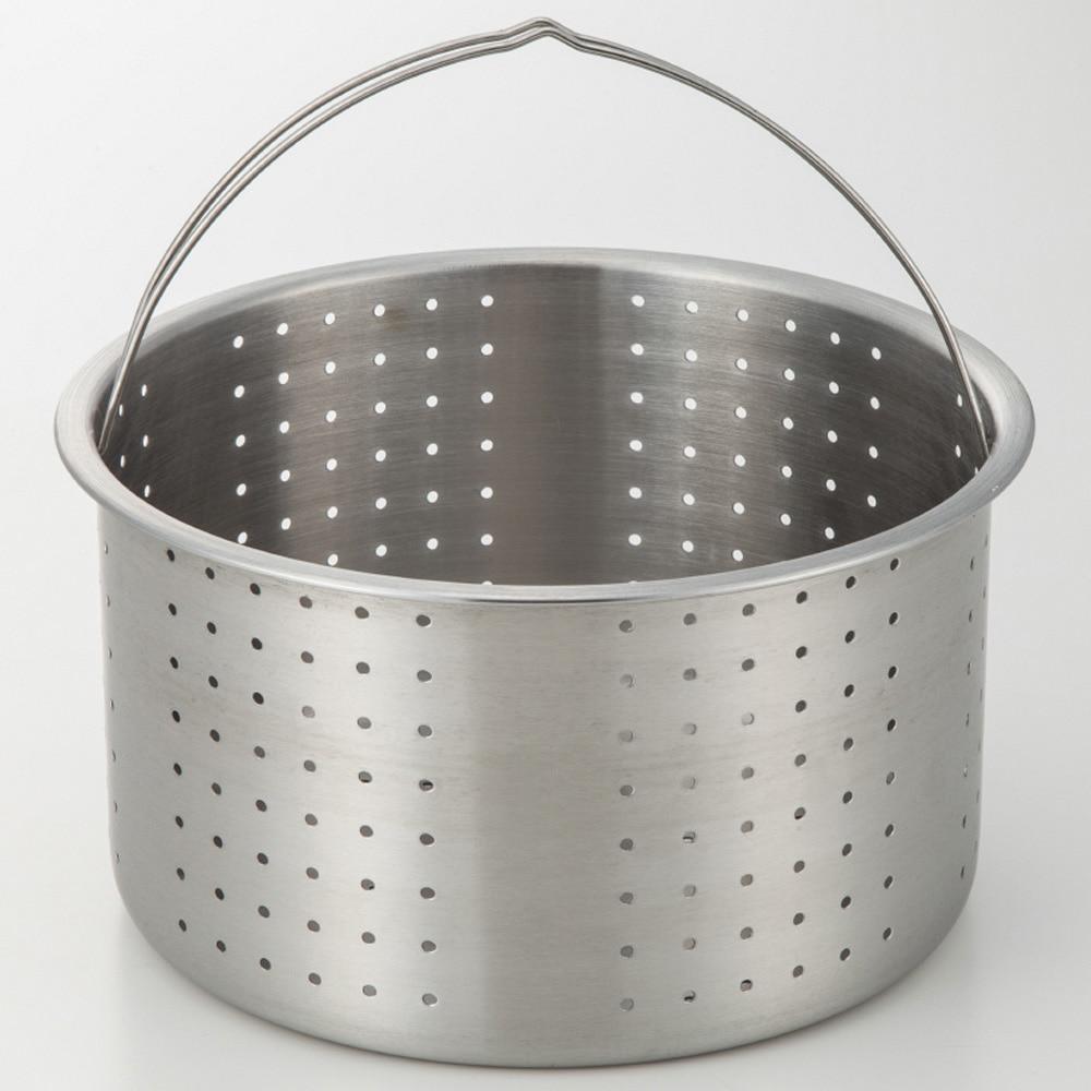 蓋が立てられるステンレス製パスタ鍋 23cm