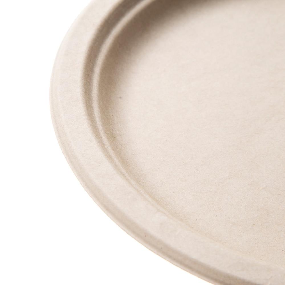 【数量限定】無漂白の麦プレート 23cm 5枚入