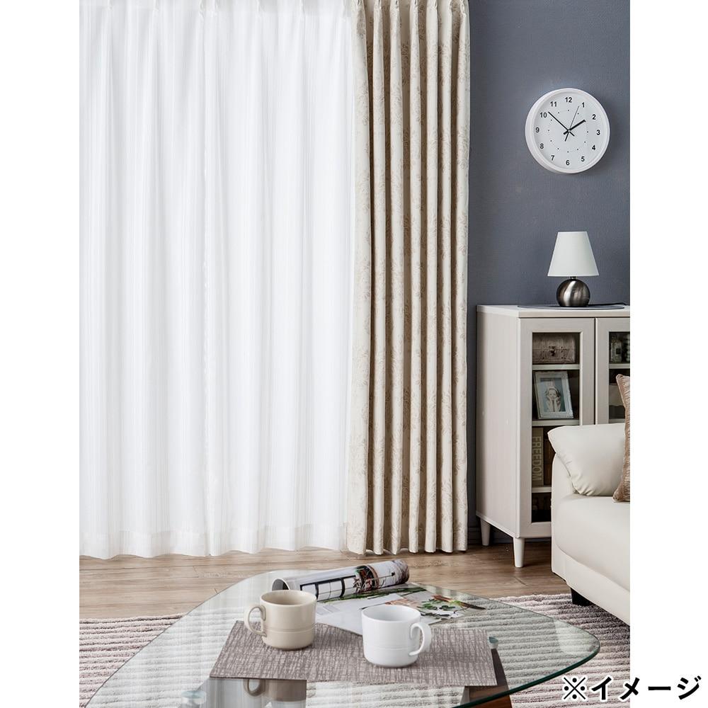ボイルレースカーテン スプリント ホワイト 100×175 2枚組