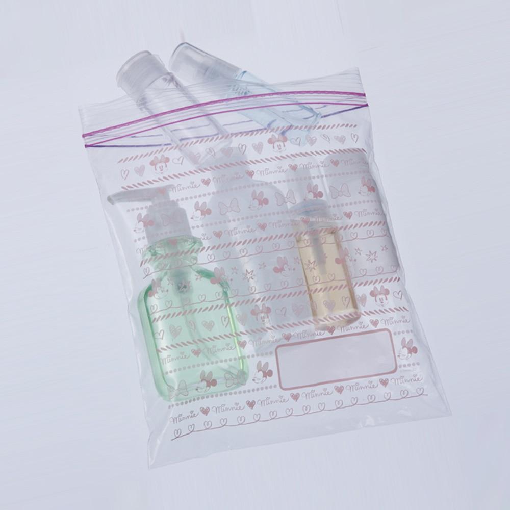 ダブルジッパー式冷凍保存用バッグ ミニ 20枚入 ミニーマウス