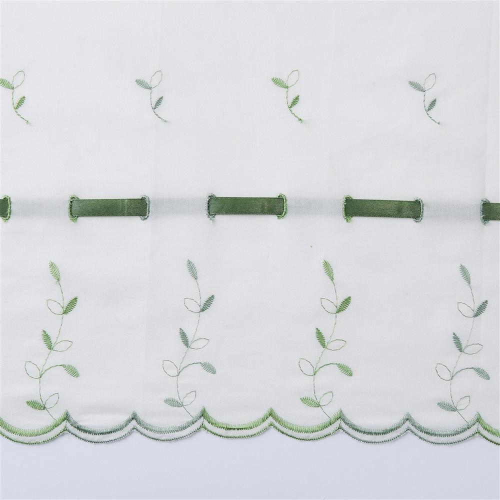 カフェカーテン ヒーリング 幅150×丈75cm