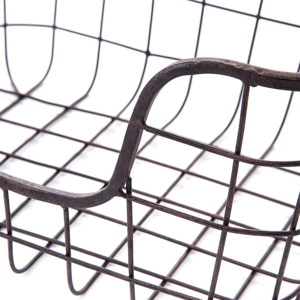 【trv】ブリキ ワイヤーバスケット