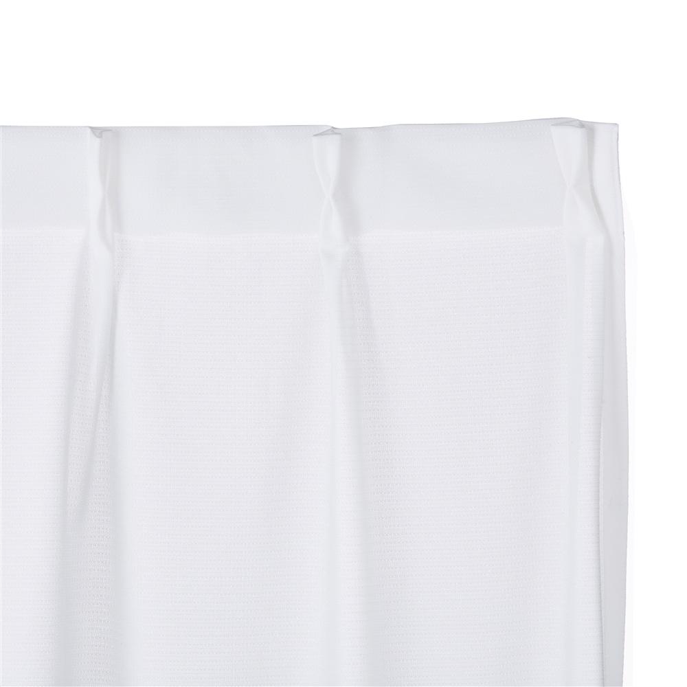 抗カビ遮熱ミラーレースカーテン シェルシェ 100×175 2枚組