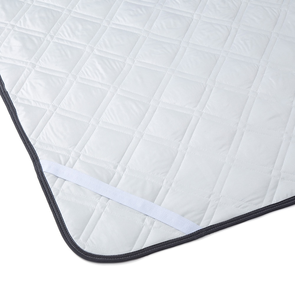 敷きパッド 綿フラノグレー セミダブル 120x200