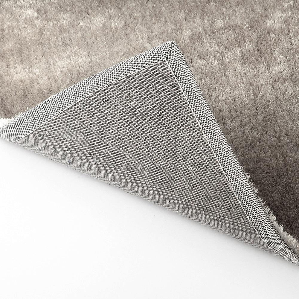 シャギーラグ スムースプレイン 185×185 シルバー
