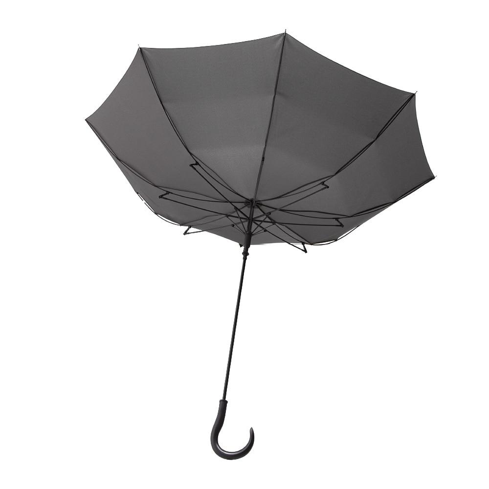 風に強いジャンプ傘 70cm グレー