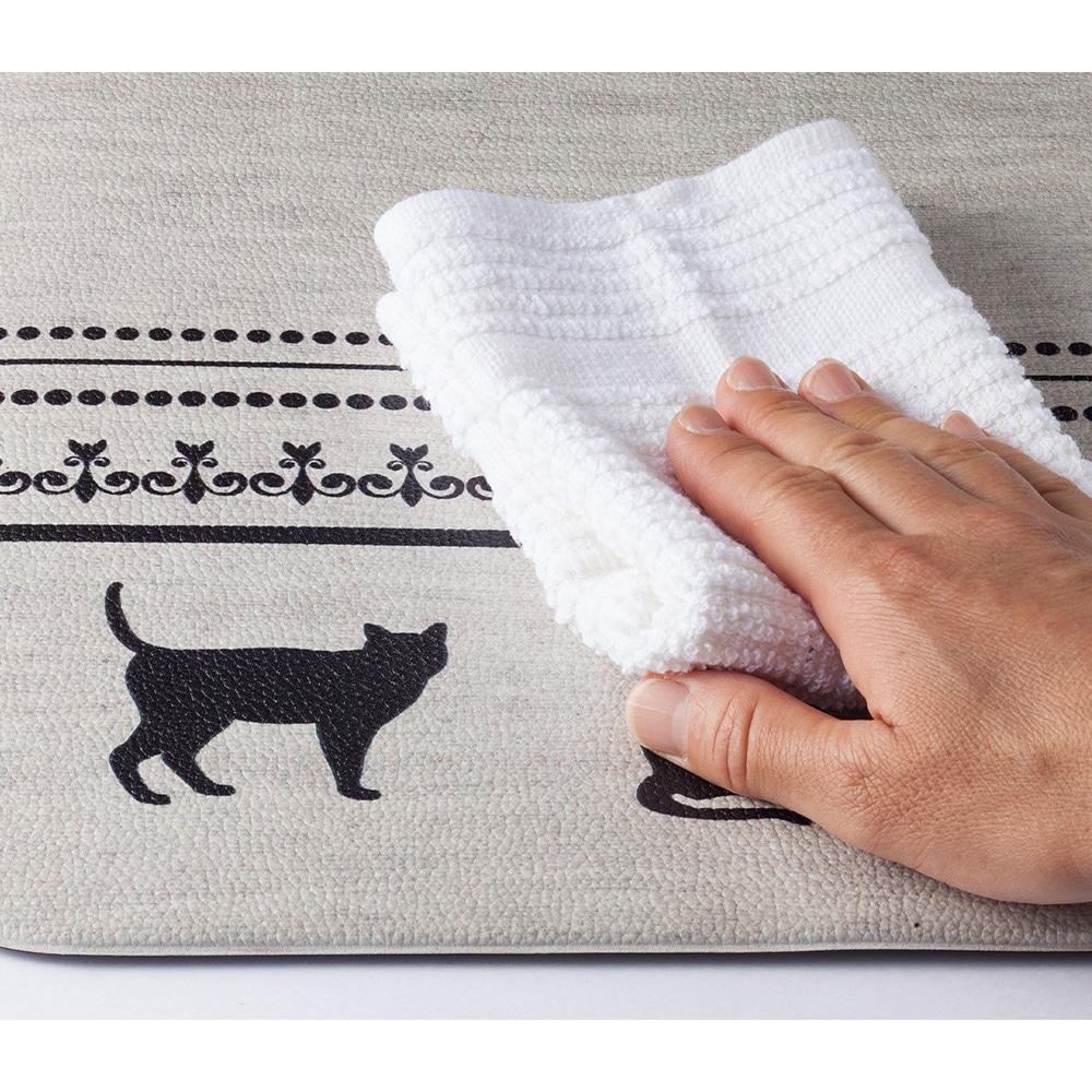 シートで拭けるトイレマット ネコ