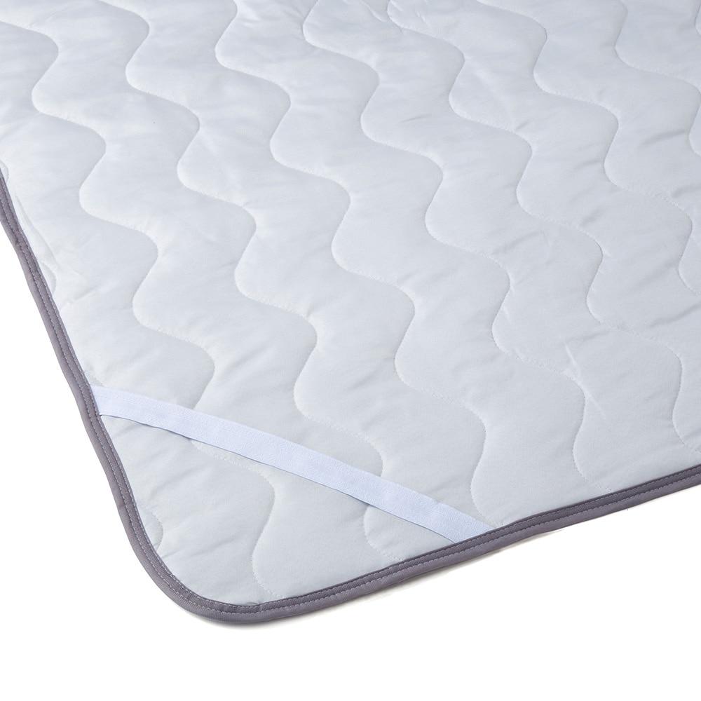 敷きパッド ショートボアグレー ダブル 140×200