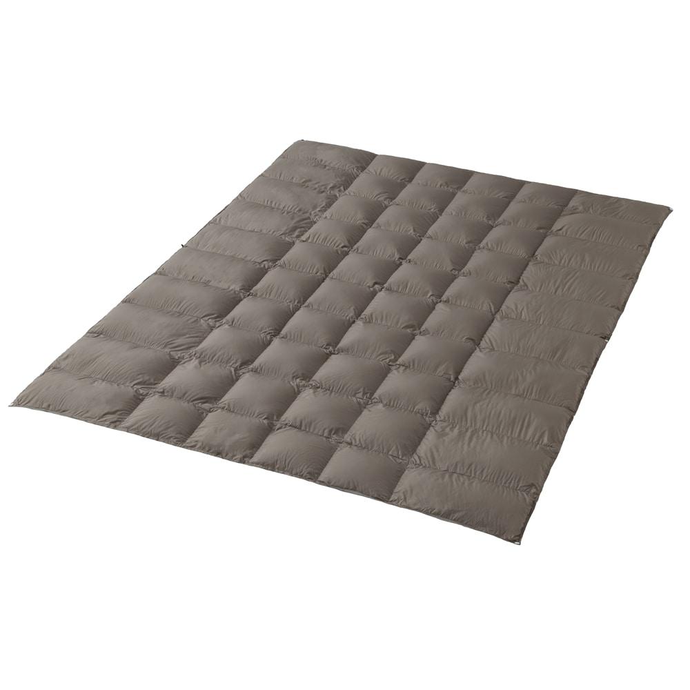 羽毛布団スーパーライトダウン ダウン90% ポータブル ベージュグレー シングルロング 150×210