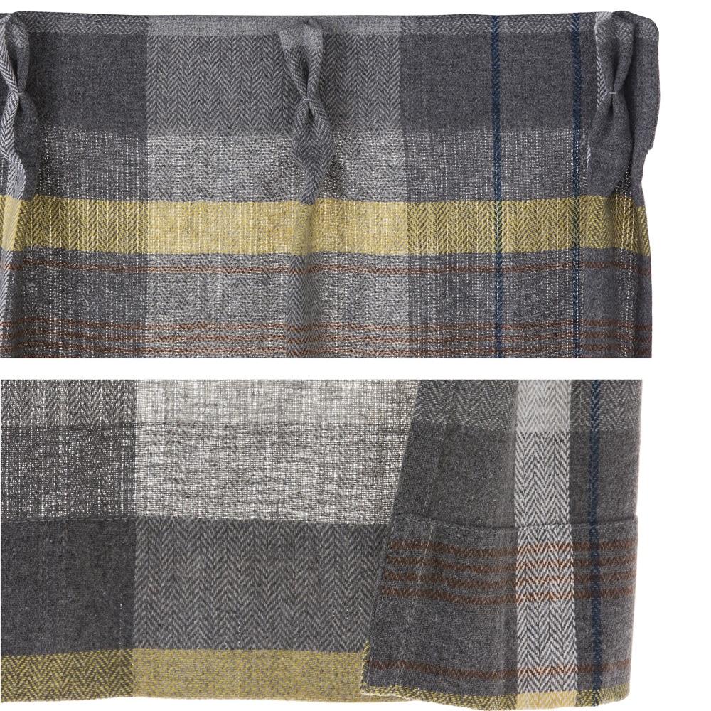 4枚組セットカーテン タンネチェック 100×178