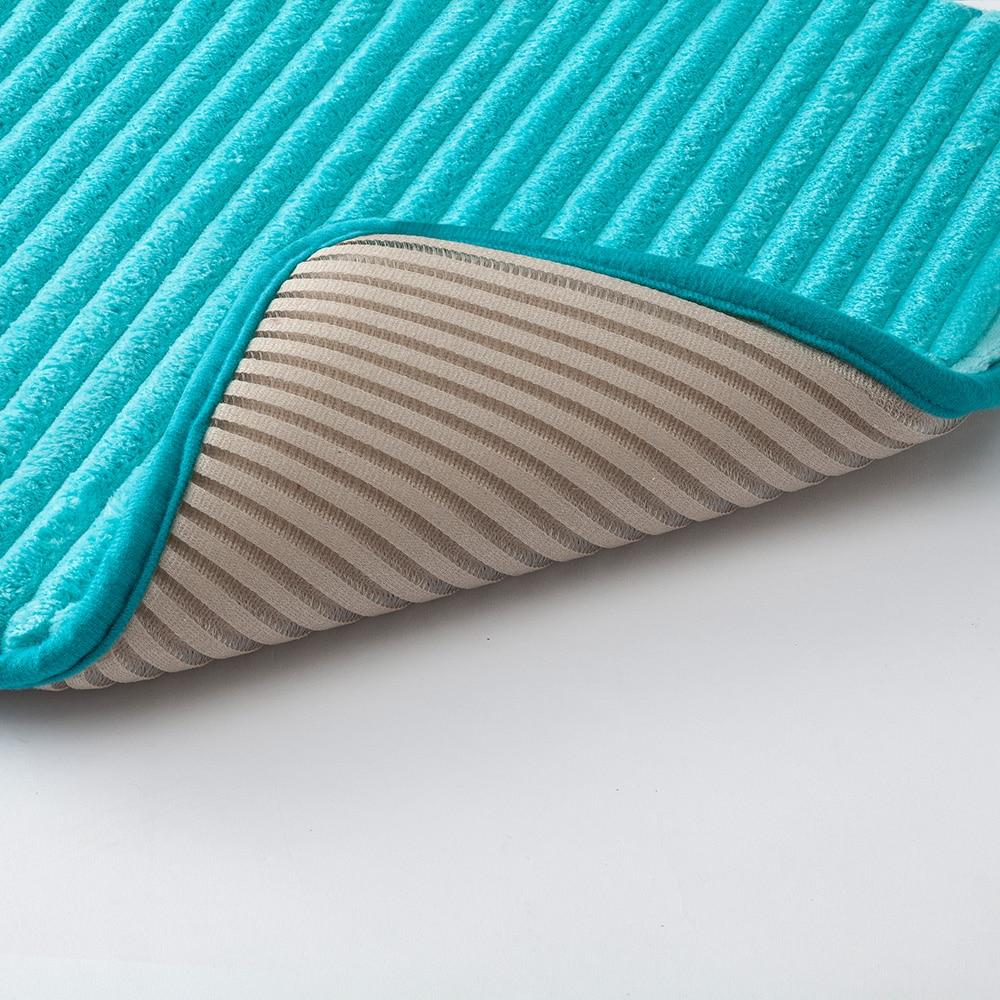 低反発ふんわりバスマットDRY 45×60cm ブルー