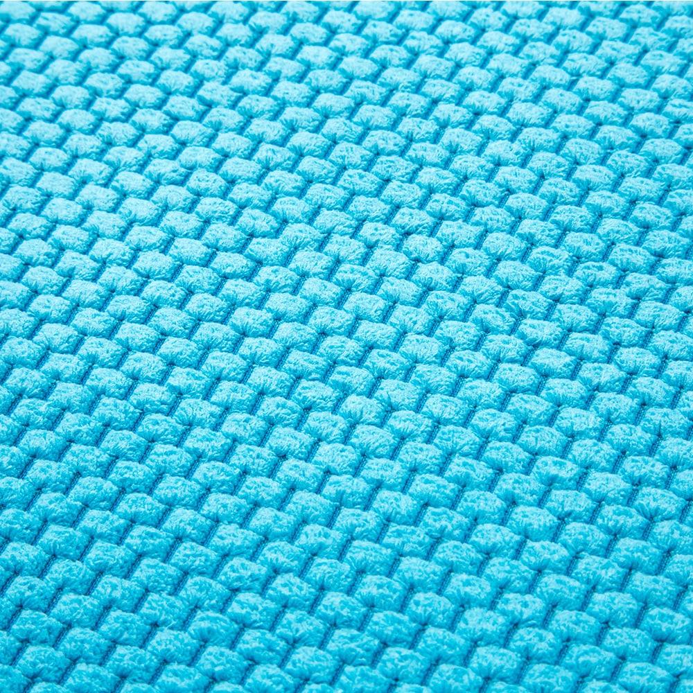 低反発ふんわりバスマットミニ 35×50cm ブルー