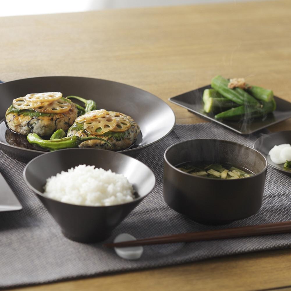レンジで使える HAJIKU DRY+ 飯椀 黒茶色