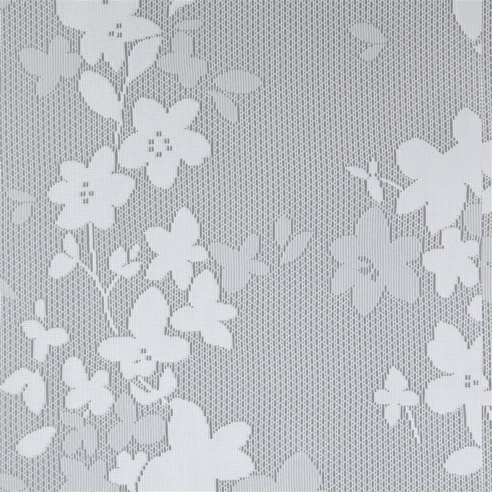 遮熱ミラーレースカーテン エコフラワー 100×175 2枚組