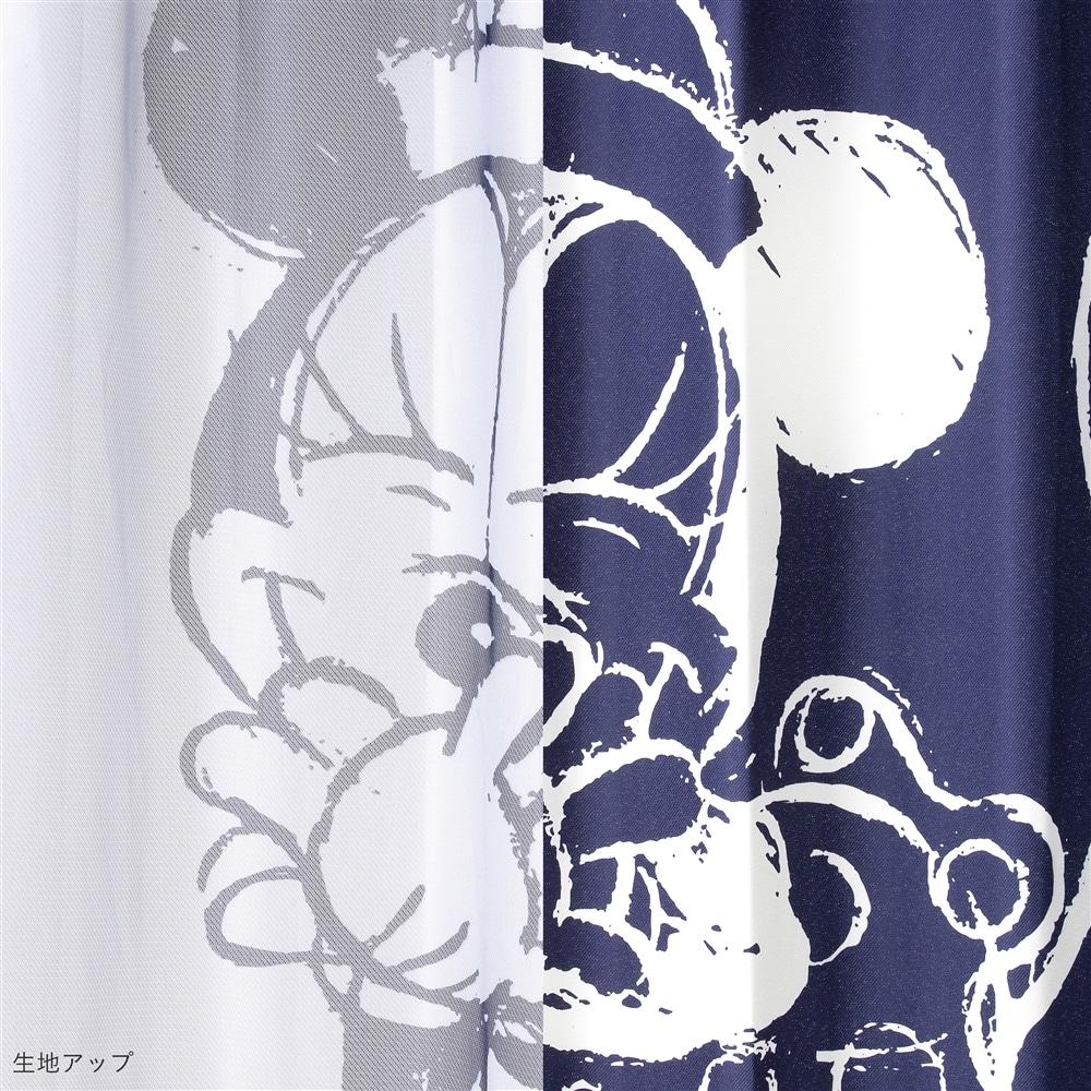 4枚組カーテンセット 葵 ミッキー&ミニー 100×135
