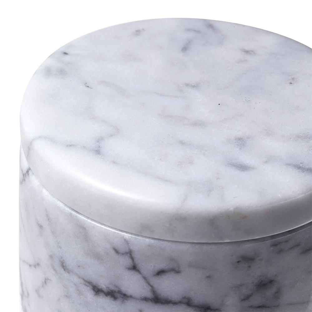 【trv】MARBLEマーブル フタ付き小物入れ ホワイトグレー