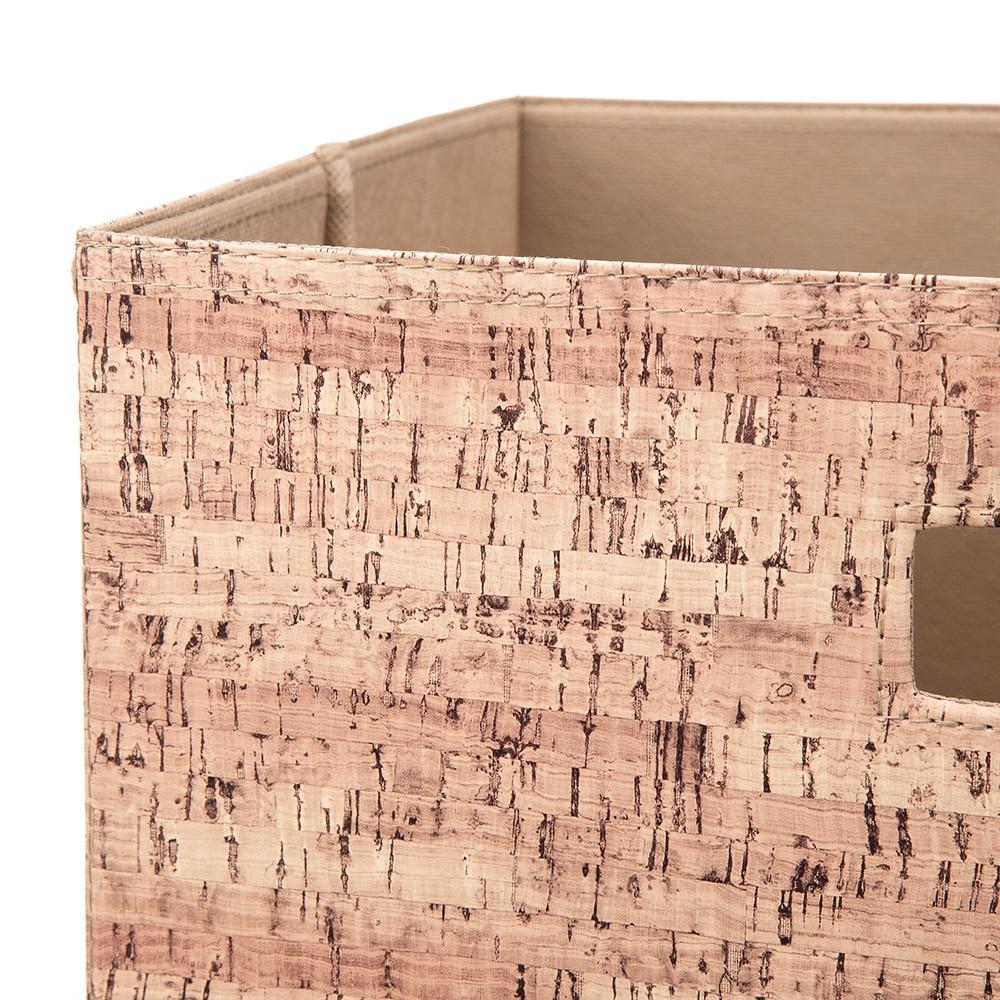 持ち運びしやすい折りたたみ収納ボックス コルク